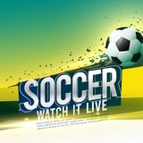 Soccer game poster design with text space Stock Image