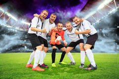 The soccer game Royalty Free Stock Photo