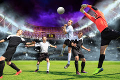 The soccer game Royalty Free Stock Image