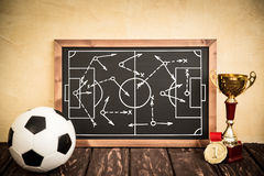 Soccer game strategy Royalty Free Stock Photos