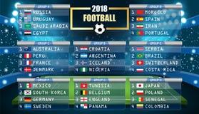 Soccer game Vector Stadium Stock Photo