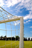 Soccer gate. View on soccer gate Royalty Free Stock Photos