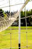 Soccer gate. View on soccer field Stock Image