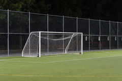 Soccer Gate. Soccer field and gate in the night Royalty Free Stock Photography