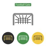 Soccer gate icon. Royalty Free Stock Photo