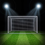 Soccer gate in the middle of field Royalty Free Stock Photography