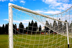 Soccer gate wire Stock Images