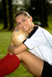 Soccer girl Stock Images