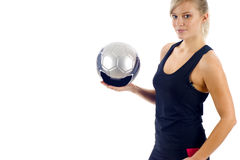 Soccer Girl Royalty Free Stock Image