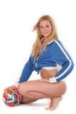 Soccer girl Stock Images