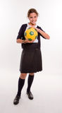 Soccer girl Royalty Free Stock Photos