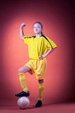 Soccer girl Royalty Free Stock Photography