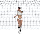 Soccer Girl stock illustration