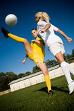 Soccer girls Stock Images