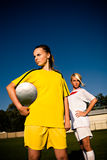Soccer girls Stock Photo