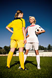 Soccer girls Royalty Free Stock Photography