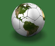 Soccer Globe on Green royalty free stock image