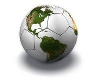 Soccer Globe on White Stock Image