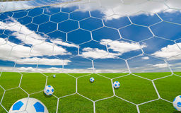 Soccer goal Stock Photography