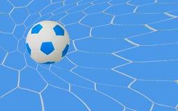 Soccer goal. Kick soccer goal under the blue sky Stock Photography