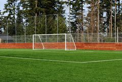 Soccer Goal. At a city park Royalty Free Stock Image