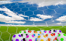 Soccer goal Royalty Free Stock Images