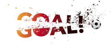 Soccer goal. Logo with goal and soccer ball Stock Image