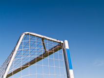 Soccer goal. Corner of the soccer goals in the school playground Royalty Free Stock Photography