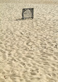 Soccer Goal. Soccer Goal on the beaches clean Stock Photography