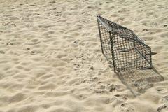 Soccer Goal. Soccer Goal on the beaches clean Stock Photos