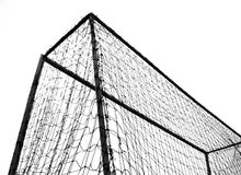 Soccer Goal. Monochrome sports theme image against a white background royalty free stock photography