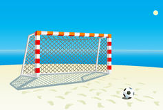 Soccer  goal. Stock Photography