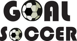 Soccer and goal Stock Image