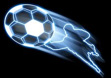 Soccer Goal. Illustration of a goal being scored in soccer Royalty Free Stock Image