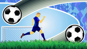 Soccer goal background. Royalty Free Stock Photography