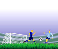 Soccer goal background. Royalty Free Stock Image