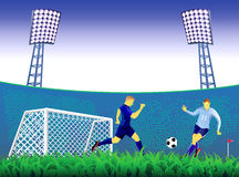 Soccer goal background. Royalty Free Stock Photo