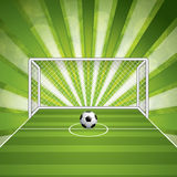 Soccer goal and ball Royalty Free Stock Photos