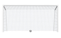 Soccer Goal with Ball vector illustration