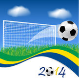 Soccer goal and ball Stock Photography