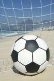 Soccer Goal Ball in Football Net Rio de Janeiro Brazil Beach Royalty Free Stock Photos