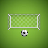 Soccer goal and ball Royalty Free Stock Photography