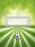 Soccer goal and ball Royalty Free Stock Photo