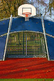 Soccer Goal and Basket Ring. Soccer field and goal with basket ring Royalty Free Stock Photo