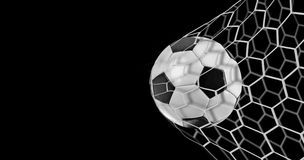 Soccer goal on black background Royalty Free Stock Images