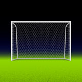 Soccer goal on black Royalty Free Stock Photography
