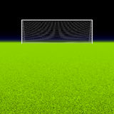 Soccer goal on black Stock Photography