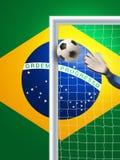 Soccer goal in brazil Stock Images