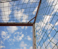 Soccer goal corner Royalty Free Stock Photography