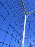 Soccer Goal Detail. On a nice summer day Royalty Free Stock Images